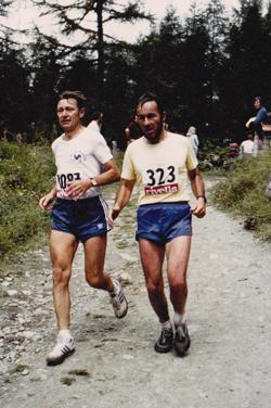 Pierre Viquerat et Charles Croset, arrivée de Sierre-Zinal en 1981